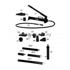 MR.MARK MK-EQP-100-10T 10 Ton Body Repair Kit