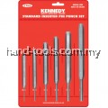 KEN5182420K  2, 3, 4, 5, 6 and 8mm STANDARD INSERTED PIN PUNCHES 6-PCE SET