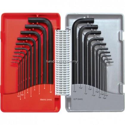 KEN6022800K COMBINATION LONG ARM B/PTMM/AF HEX KEY SET 20-PCE