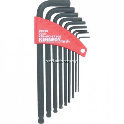 KEN6025730K IMPERIAL L-WRENCH BALL DRIVER SET (9-PCE)