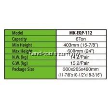 MR.MARK MK-EQP-112-06T 6 TON JACK STAND SET