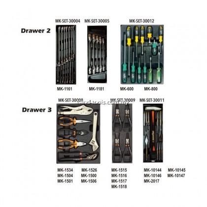 MR.MARK MK-SET-0304 118 PCS 3-DRAWER TROLLEY TOOLS SET (3 DRAWER WITH TOOLS)