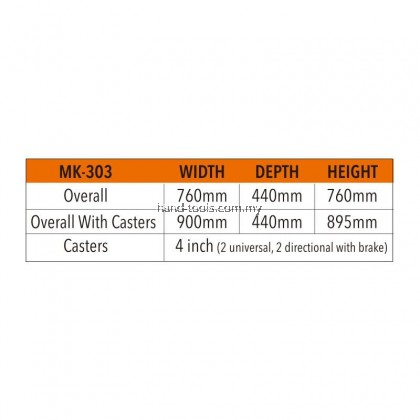 MR.MARK MK-EQP-0303 3 DRAWER DETACHABLE