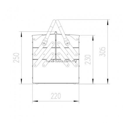 MR.MARK MK-EQP-0305 CANTILEVEL TOOL BOX