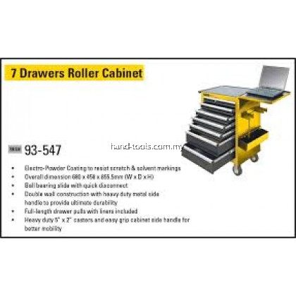 stanley 93-547 7 drawer roller cabinet Size: 676 x 459 x 857 mm