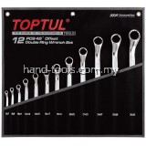TOPTUL GPAH1202 12PCS DOUBLE RING 45° WRENCH SET
