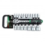 "TOPTUL GABB2001 20PCS 1/2"" DR. 6PT SOCKET SET"