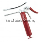 "TOPTUL JGAE0203 PISTON GRIP GREASE GUN - W/7"" RIGID TUBE & 12"" FLEXIBLE HOSE"