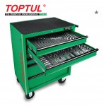 TOPTUL GE20551 W/6 DRAWER MOBILE TOOL TROLLEY 205PCS MECHANICAL TOOL SET 205PCS