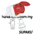 Supaku CEE 124 32A 380-415V IP44 Weatherproof Wall Socket