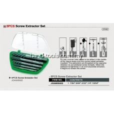 Toptul JGAW0501 5pcs Screw Extractor Set