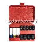 "Mr. Mark MK-TOL-84612 12pcs 1/2"" Dr. (10-27mm) Impact Socket Set"