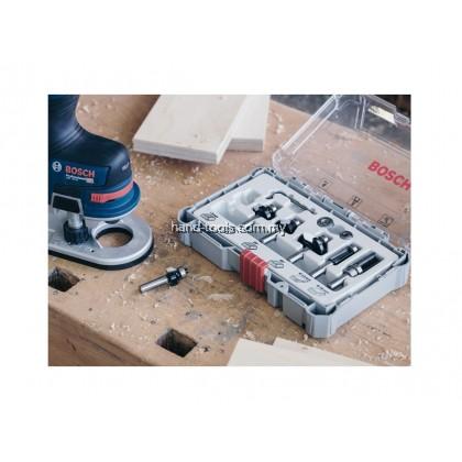 "Bosch 2607017470 6pcs x 1/4"" Trim and Edging Router Bit Sets"
