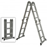 HAM808-A 4 FOLDS X 3 STEPS ALUMINIUM MULTI-FUNCTION LADDER (BIG JOINT)