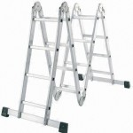 HAM8010-A 4 FOLDS X 4 STEPS ALUMINIUM MULTI-FUNCTION LADDER (BIG JOINT)