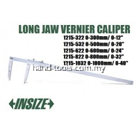 "INSIZE 1215-322 300mm/12"" LONG JAW VERNIER CALIPER 0.02mm/0.001"""