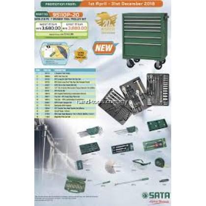 SATA 95110P-20 216pcs 7 Drawer Tool Trolley Set