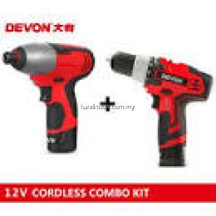 Devon 7297-Li-12 Drill/Impact (Combo Kit) 12v