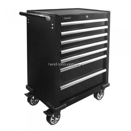 77-HT210 7 DRAWERS TOOL CABINET Ball bearing slide with quick disconnect 2 x fixed & 2 x swivel heavy duty casters Double wall construction