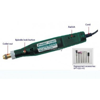 proskit PT-5201B Mini Grinder (230V AC 50Hz)