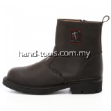 Full Leather Mid cut Slip on Safety Shoes BH4664