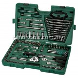 sata 09014a Socket Wrench Set 121pc 1/4,3/8,1/2 14kg Metric