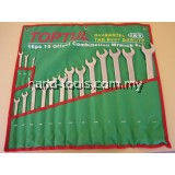 SAE 16 pcs 15 Offset Combination Wrench Set