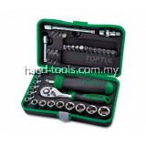 "41PCS Professional Grade 1/4"" DR. Flank Socket Set"